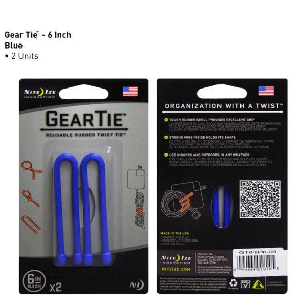 """NiteIze Gear Tie 6""""(15,24cm) kinnitusvahend"""