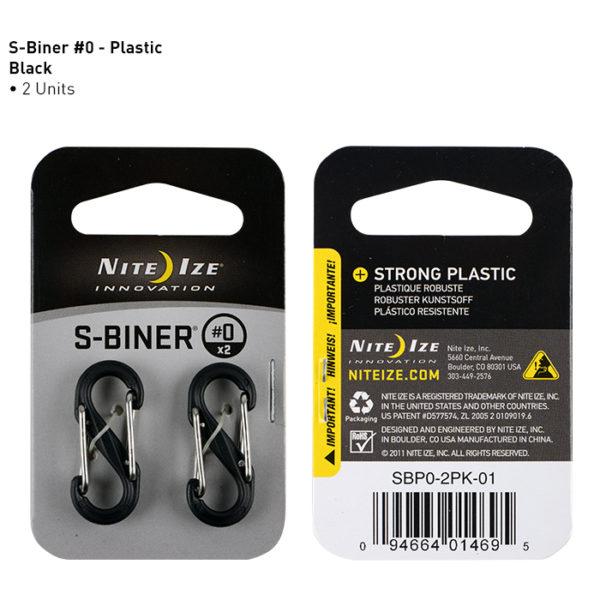 NiteIze S-Biner #0 plastikust karabiinid