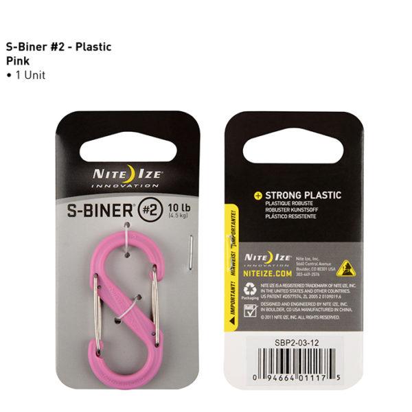 NiteIze S-Biner #2 plastikust karabiin