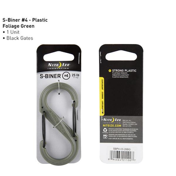 NiteIze S-Biner #4 plastikust karabiin