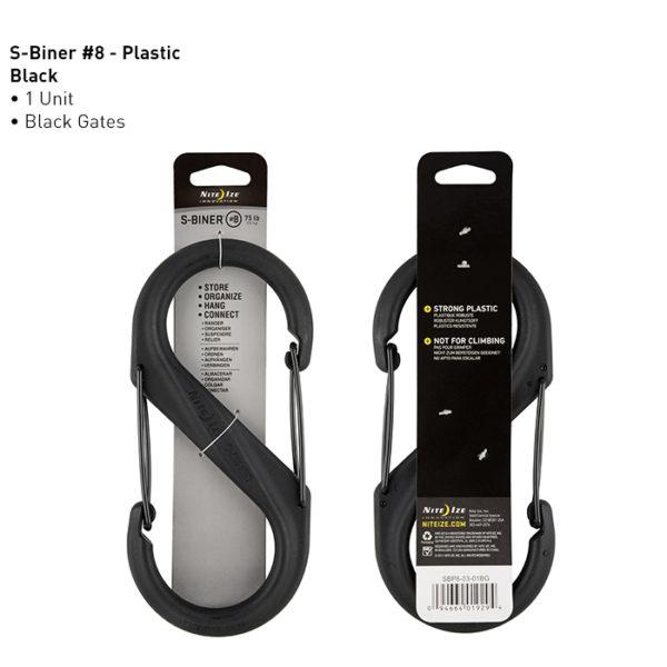 NiteIze S-Biner #8 plastikust karabiin