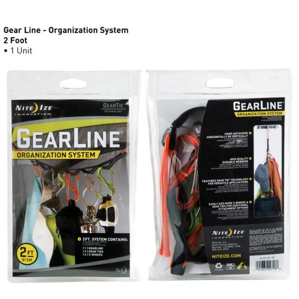 NiteIze GearLine 2ft (60,96cm) süsteem
