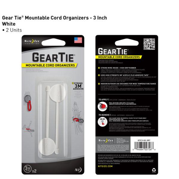 "NiteIze Gear Tie Mountable Cord 3""(7,62cm) kinnitusvahend"