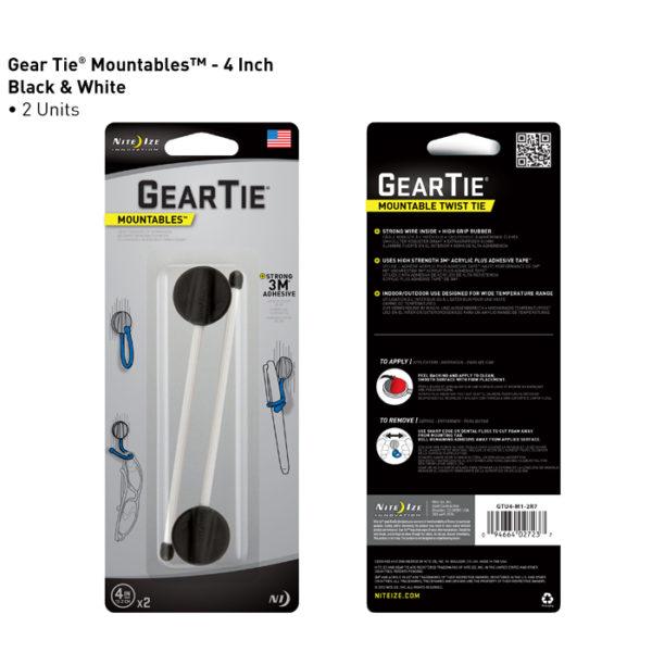 "NiteIze Gear Tie Mountable 4""(10,16cm) kinnitusvahend"