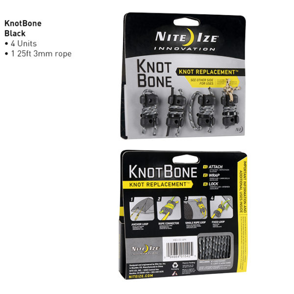 NiteIze Knot Bone #3 whit Cord