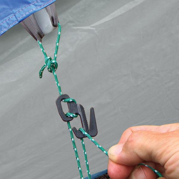 NiteIze Figure 9 TentLine Kit telginöörid kinnitusklambriga