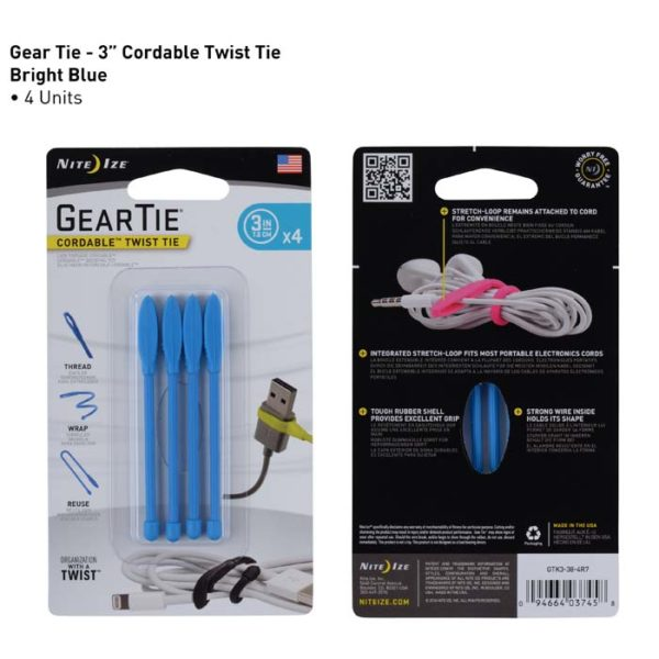 NiteIze Gear Tie Cordable 3""