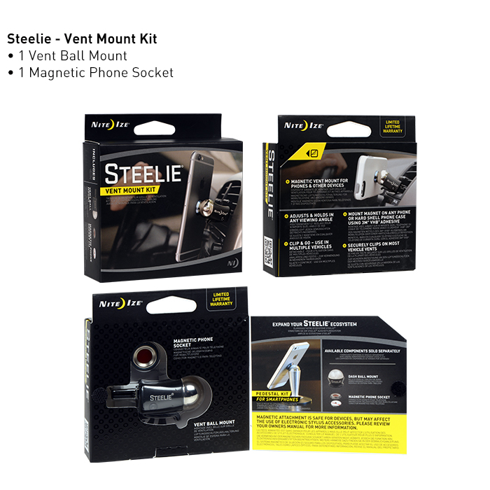NiteIze Steelie Vent Mount Kit
