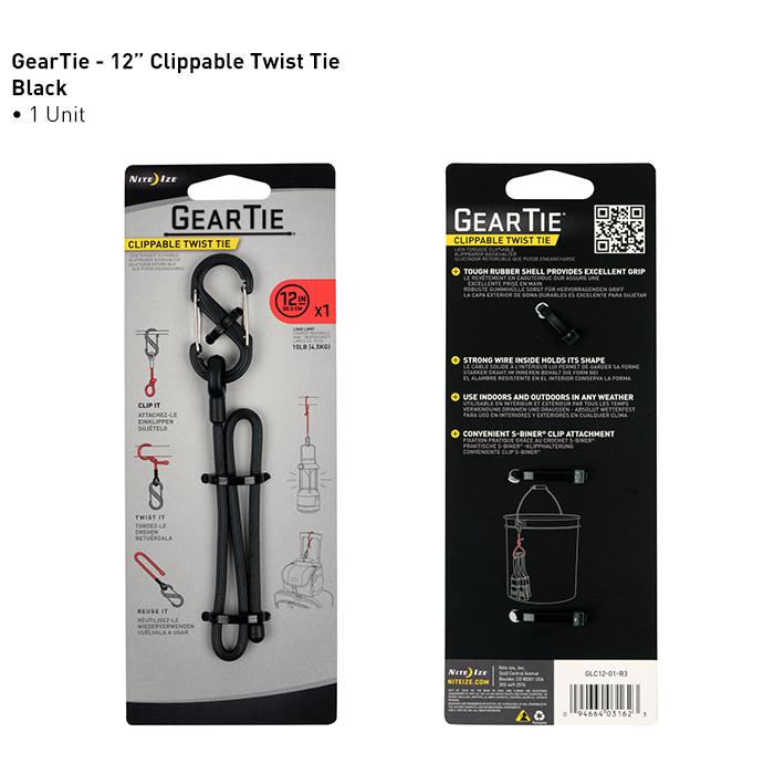 NiteIze Gear Tie Clippable Twist Tie
